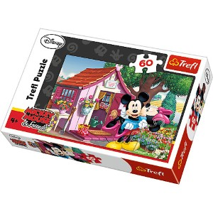 60Pcs Puzzle Mickey  Minnie Bahçede